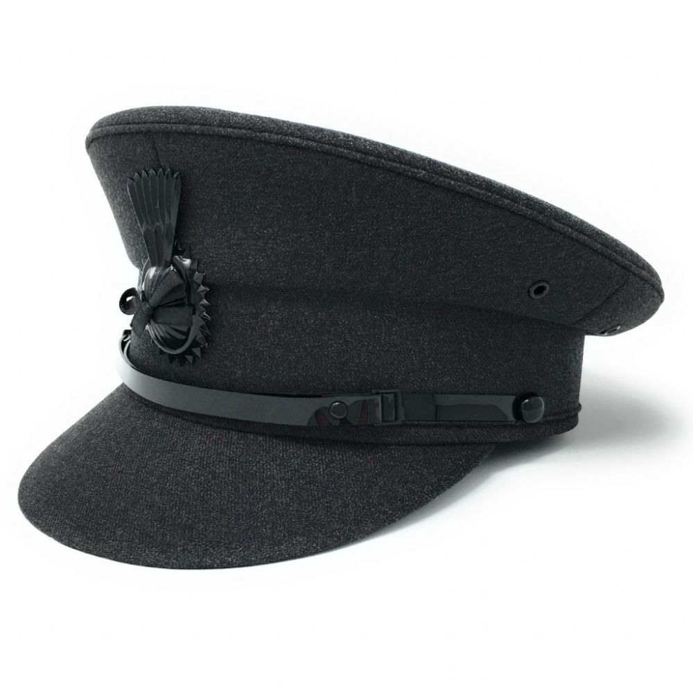 Chauffeurs Hat  - Dark Grey - Driving Cap
